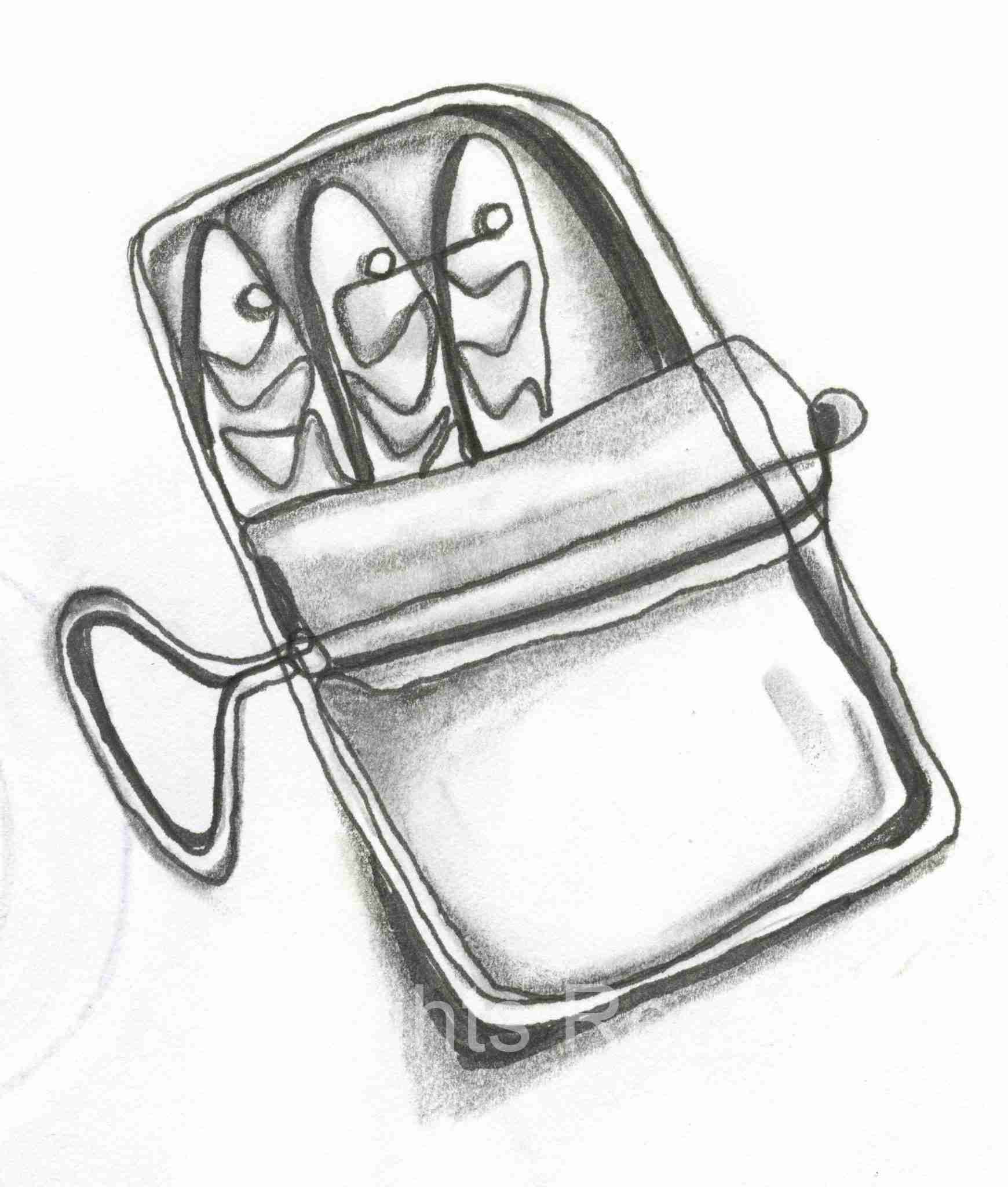 Drawing of Sardines in a Can