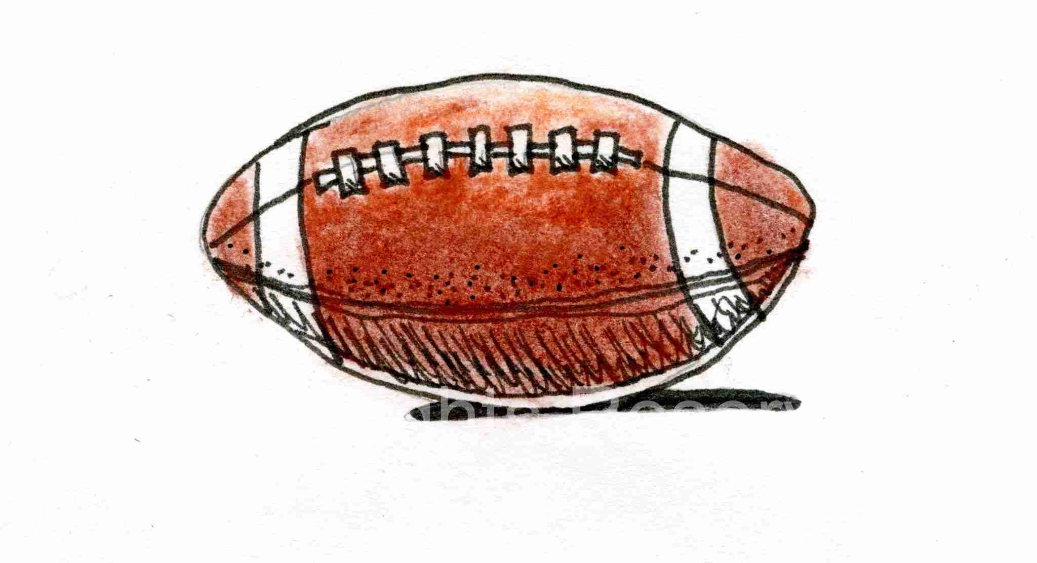 Football drawing in color