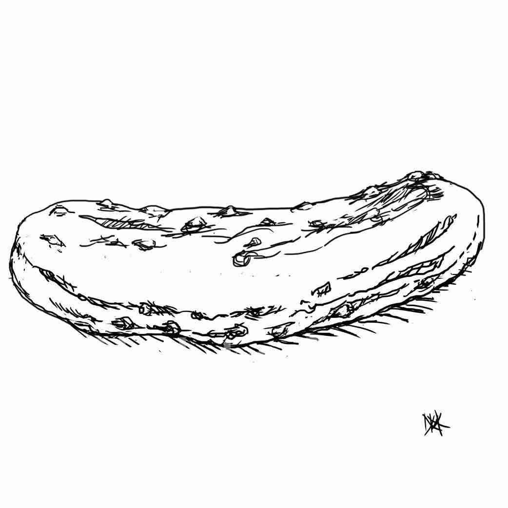 Drawing of a Pickle.