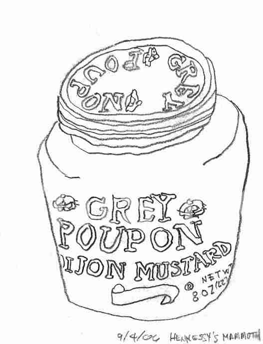 Grey Poupon contour line drawing