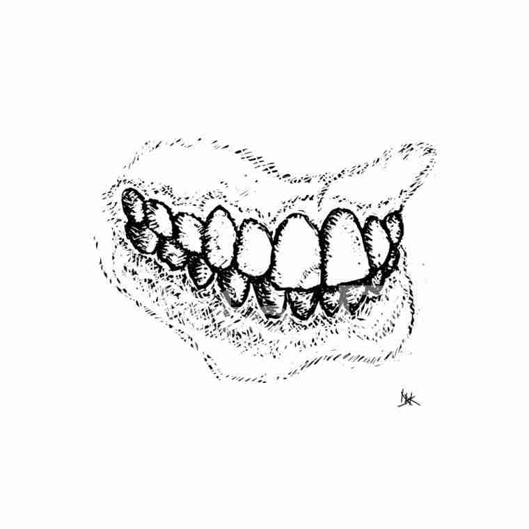 Teeth drawing