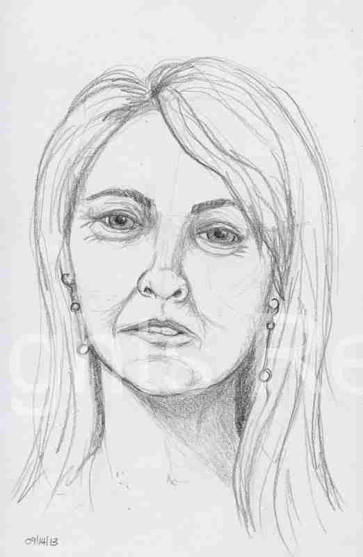 dina lohan mug shot drawing