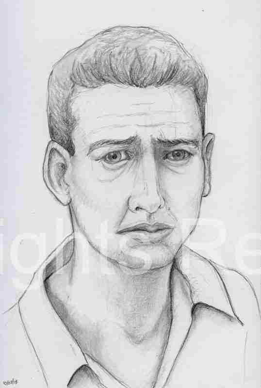 worried man drawing