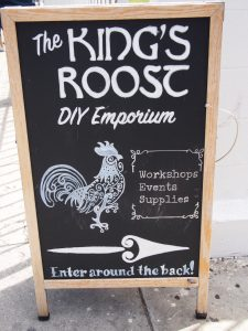 The Kings Roos sign