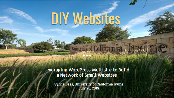 'DIY Websites' Presentation
