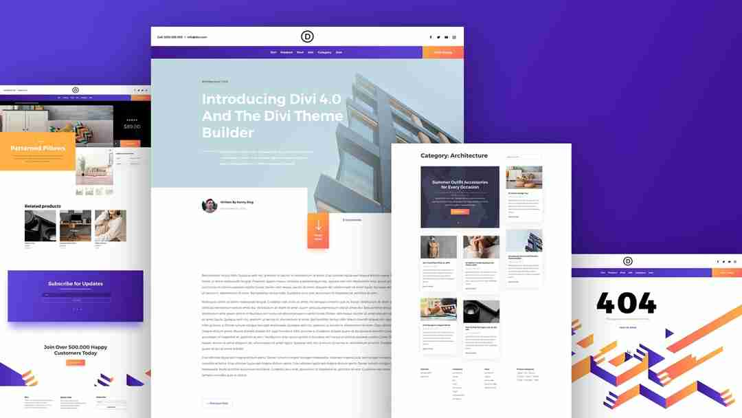 New Websites using Divi